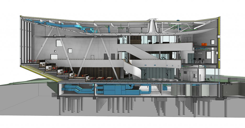 Rabobank Sittard - section of the Building Information Model