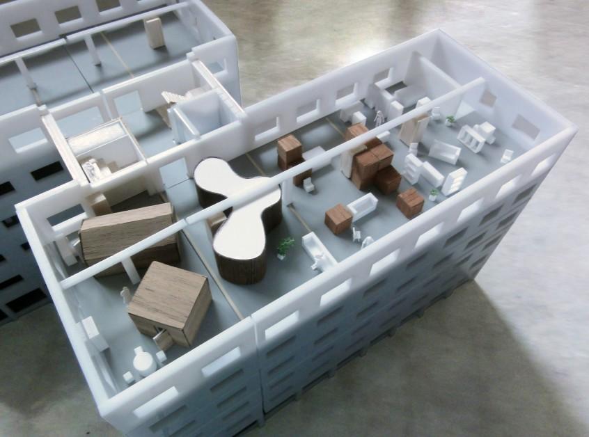 maquette Loft Amstel III Transformation