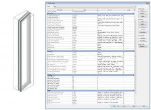 parameters of tiltable window family - left