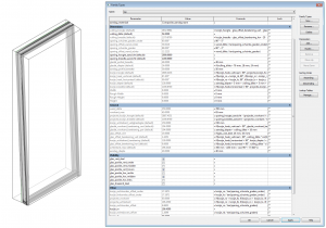 parameters of tiltable window family - top