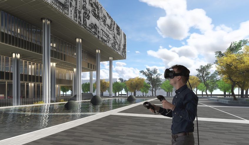 VR architecture simulation of Mecanoo's Tainan Public Library