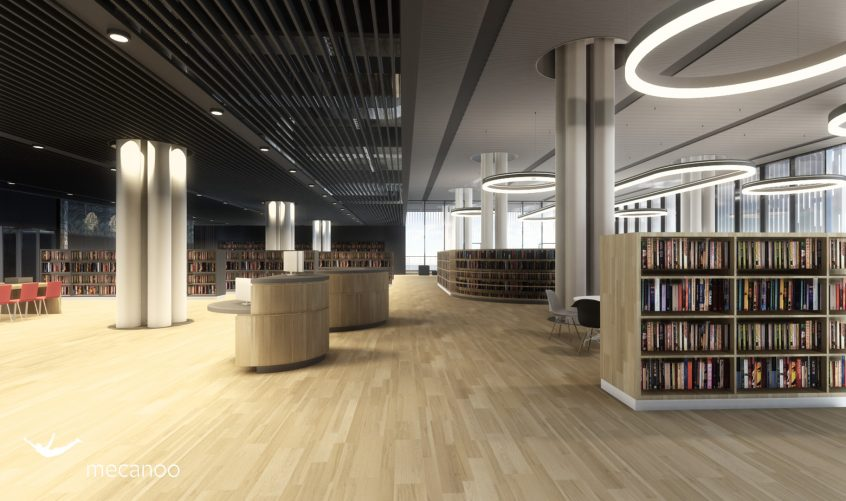 Mecanoo Tainan Public Library study interior